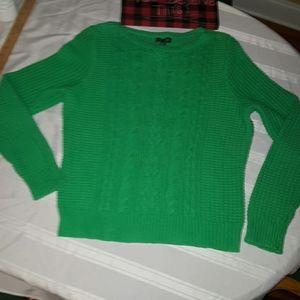 LRL Lauren Jeans Co Ralph Laren Green sweater XL